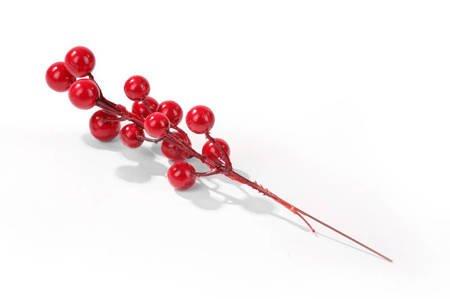 Czerwone kulki na gałązce 20cm