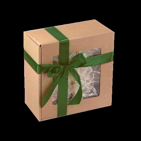 Pudełko prezentowe EKO Kraft 8 22x22x10 cm - z okienkiem